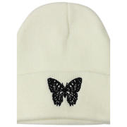 Butterfly embroidered beanie