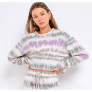 Tie Dye oversized cropped long sleeve