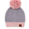 C.C Knitted Sherpa Beanie with Contrasting Color - Different options available