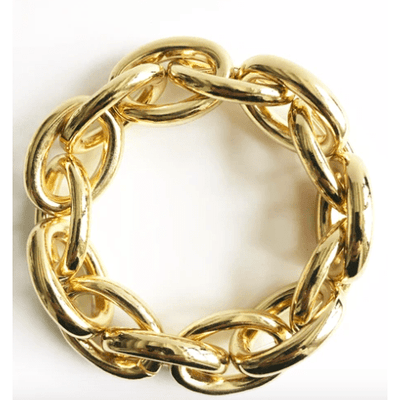 Gold Chain Link Stretch Bracelet