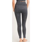 Ribbed Perforated Seamless Highwaist Leggings - multiple colors available