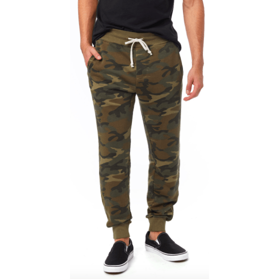 Men's camo burnout french terry jogger