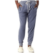 Men's Burnout French Terry Jogger Pants in Dark Navy