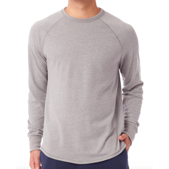 Men's Kickback Vintage Heavy Knit Pullover Sweatshirt in Smoke grey