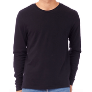 Men's black long sleeve tee