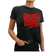 Retro Brand Rebel Rebel cropped tee