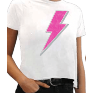 Retro Brand white bolt cropped tee