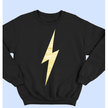 Tween bolt sweatshirt