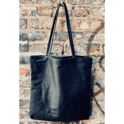 Vegan Leather Tote with Coin Purse