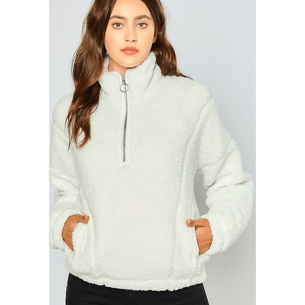 Sherpa half zip up jacket - multiple colors available