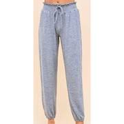 Smocked Waistband Soft Hacci Jersey Lounge Pant - Grey and Black available