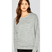 Heather grey hacci sweatshirt
