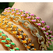 Chunky Chain Link Bracelet - multiple colors available