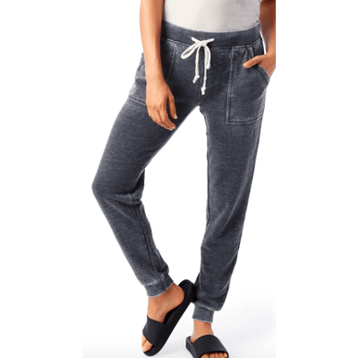 Burnout French Terry Pants in washed black