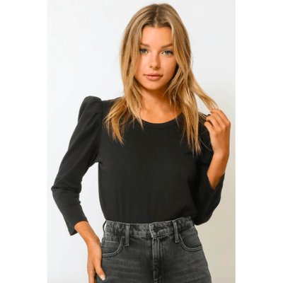 Puff sleeve long sleeve tee