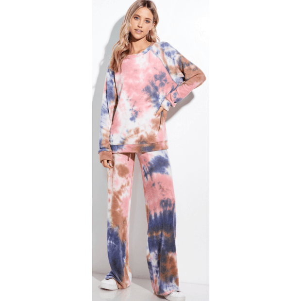 Tie dye lounge wear set