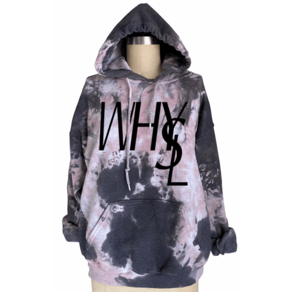 WHYSL tie dye hooded sweatshirt