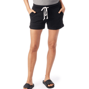 Lounge Burnout French Terry Shorts in Black