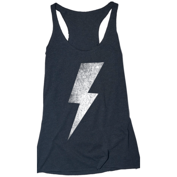 Racerback tank with Bolt (multiple colors available)