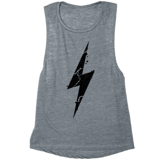 Muscle tank with bolt (multiple colors available)