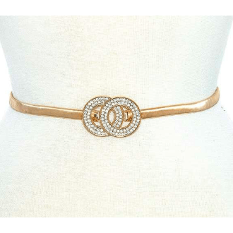 Gold double ring vintage belt