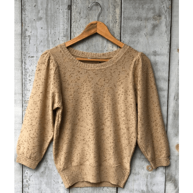 Dex Gold member 3/4 sleeve sweater