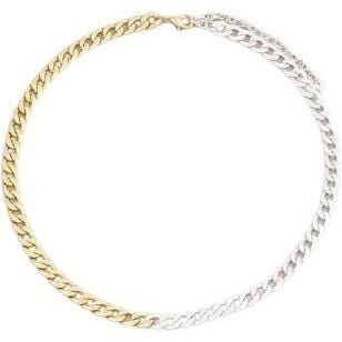 Two Tone Chain Link Necklaces (two sizes available)