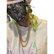Acrylic chain link with extra gold links mask chain