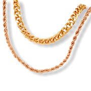Gold Double Chain Choker Necklace