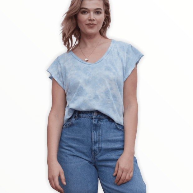 Grey State - Blue cloud tie dye tee