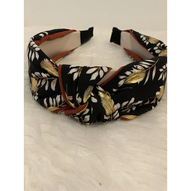 Floral printed top knot headband