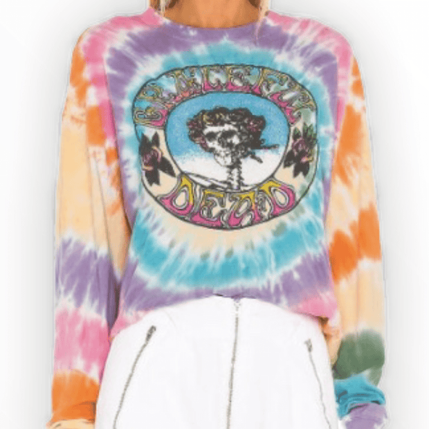 Daydreamer - Grateful Dead tie dye long sleeve crop