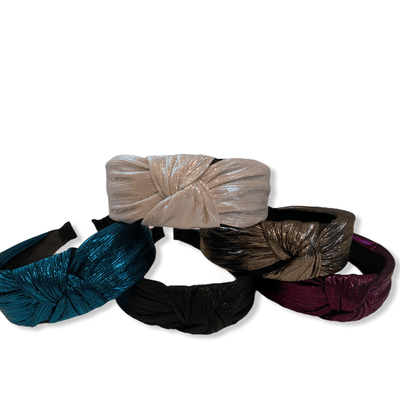 Colorful shiny top knot headband
