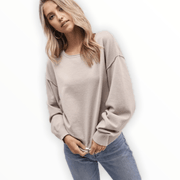 Dropped shoulder lightweight sweater