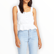 BB Dakota Pleasant Valley Embroidered Peplum Top