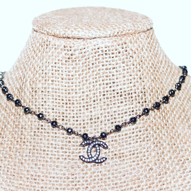 CoCo necklace in black/gunmetal - Bolt Addiction