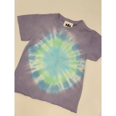 Kids purple/blue tie dye soft tee