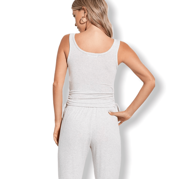Grey Drawstring Side loungewear set