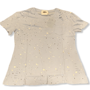 Splatter paint distressed tee (2 colors available)