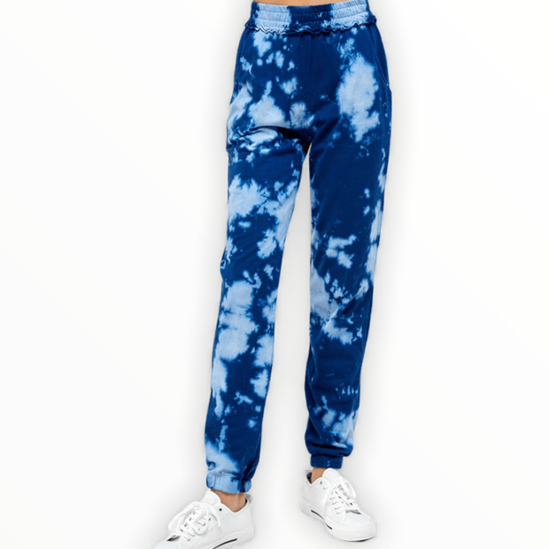 Blue dyed joggers