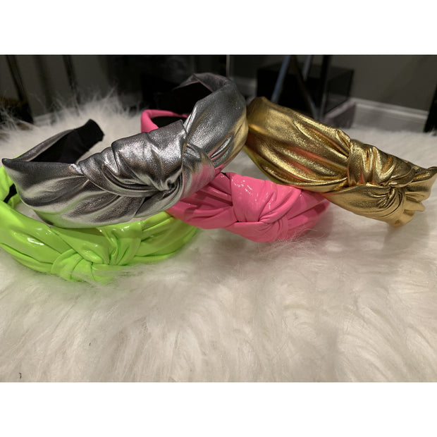 Leather headbands - 4 colors avail