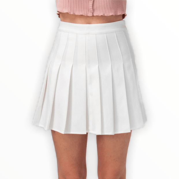 Pleated tennis mini skirt (black and white available)