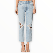 Vintage wash knee distressed boyfriend jean