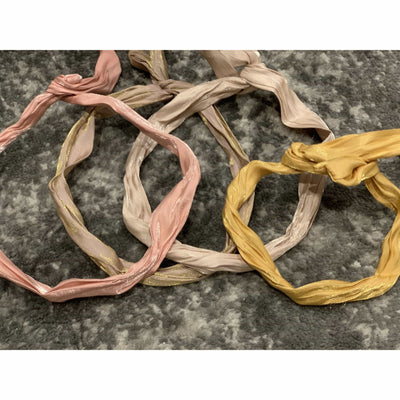 Wired hair tie or headband