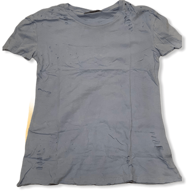 Caroline Blue distressed tee
