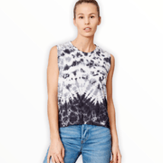 Tie Dye tank with graphic heart outline