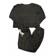 Black with hints of grey super soft loungewear set