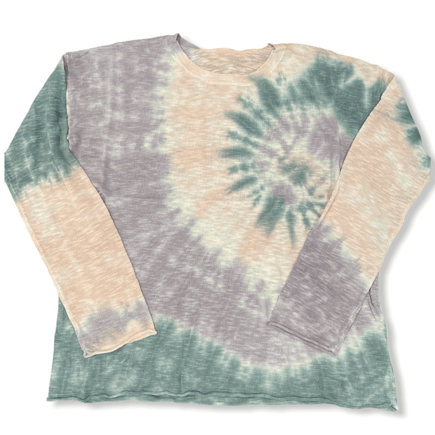 Tie dye light sweater