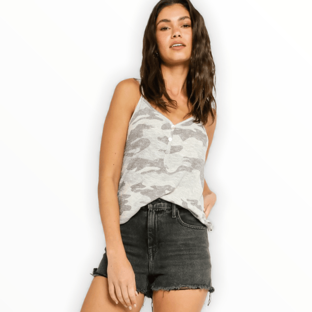Light Grey Camo Tank Top