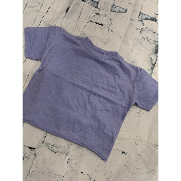 Kids Crop Pocket Tee (Grey or Lilac)